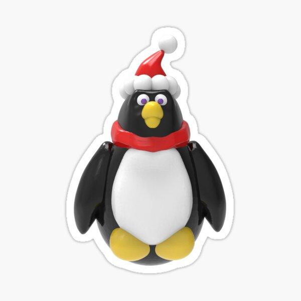 Holly Jolly Penguin Sticker