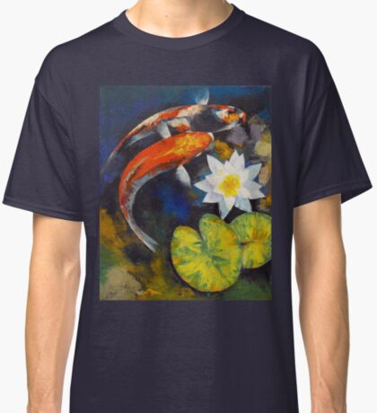 Koi Fish and Water Lily Classic T-Shirt