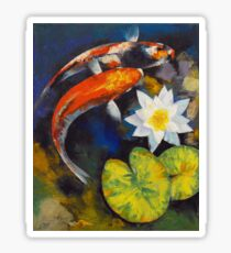 Koi Fish and Water Lily Sticker