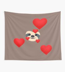 Emoji: Sloth love Wall Tapestry