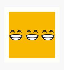 Emoji: 3 smiling faces Art Print
