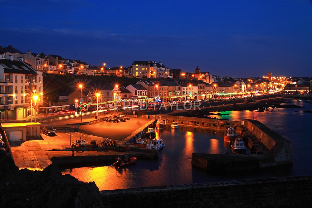 The colour of Portstewart seaside town at Night.  by FRED TAYLOR