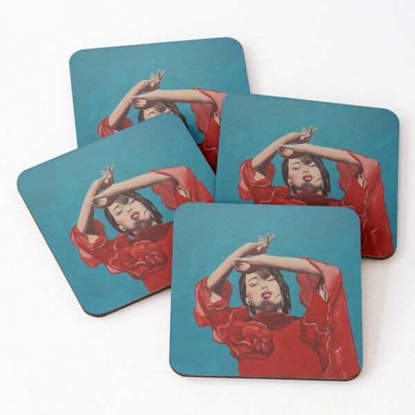 Rosalía De Plata oil painting Coasters (Set of 4)