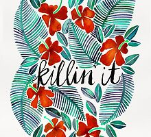 Killin' It – Tropical Red & Green by Cat Coquillette