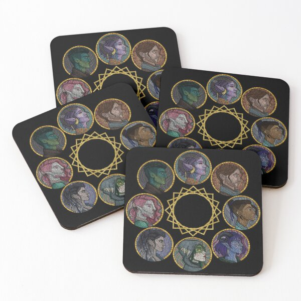 The Mighty Nein Coasters (Set of 4)