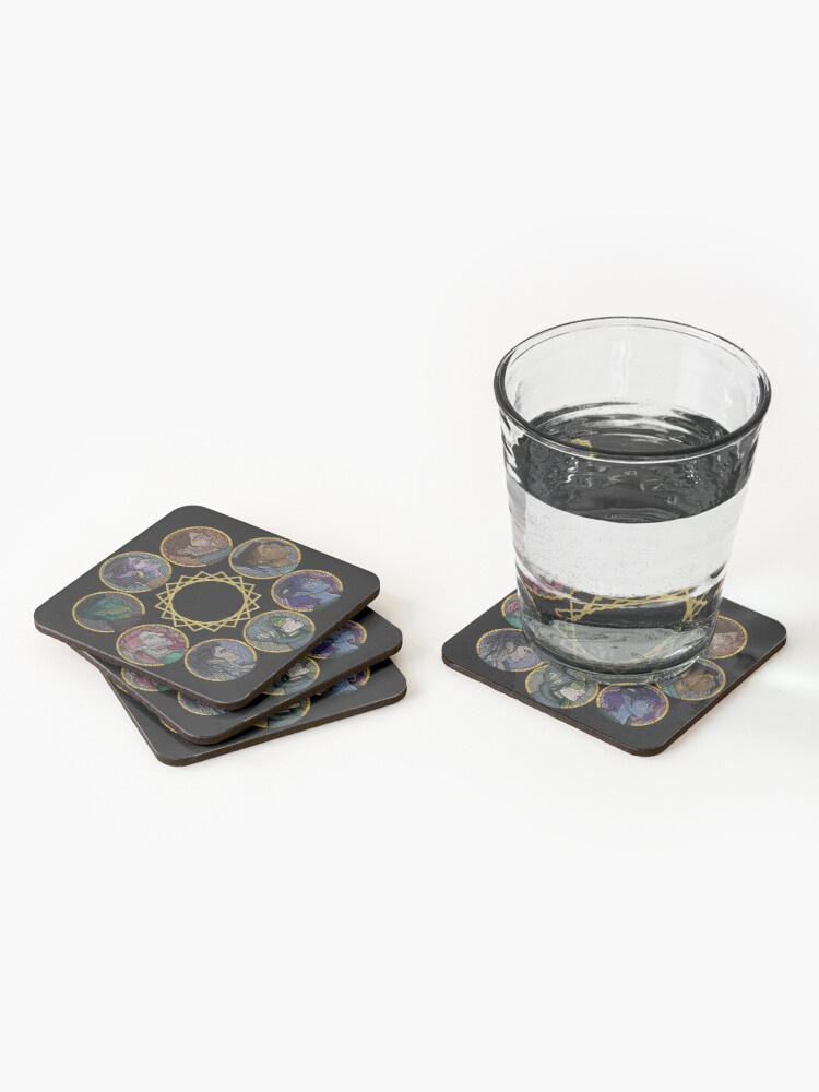 Alternate view of The Mighty Nein Coasters (Set of 4)