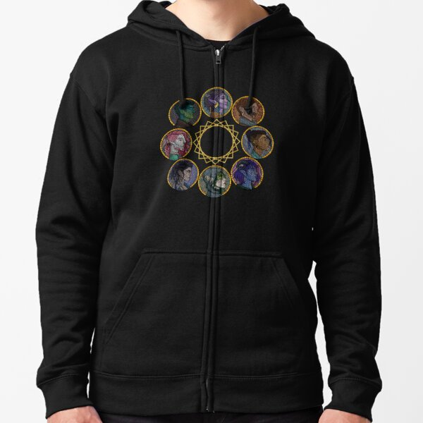 The Mighty Nein Zipped Hoodie