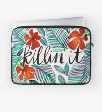 Killin' It – Tropical Red & Green Laptop Sleeve