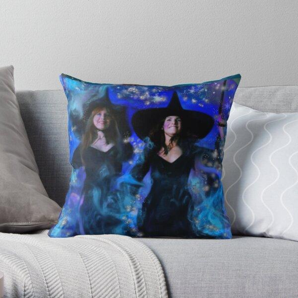 Witches White Magic Practical Magic, Christmas magic Throw Pillow