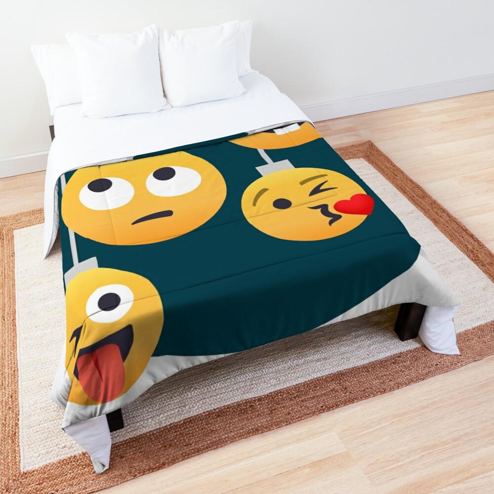 Nerdy X-mas Emoji Comforter