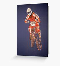 The Biker not the Bike Greeting Card