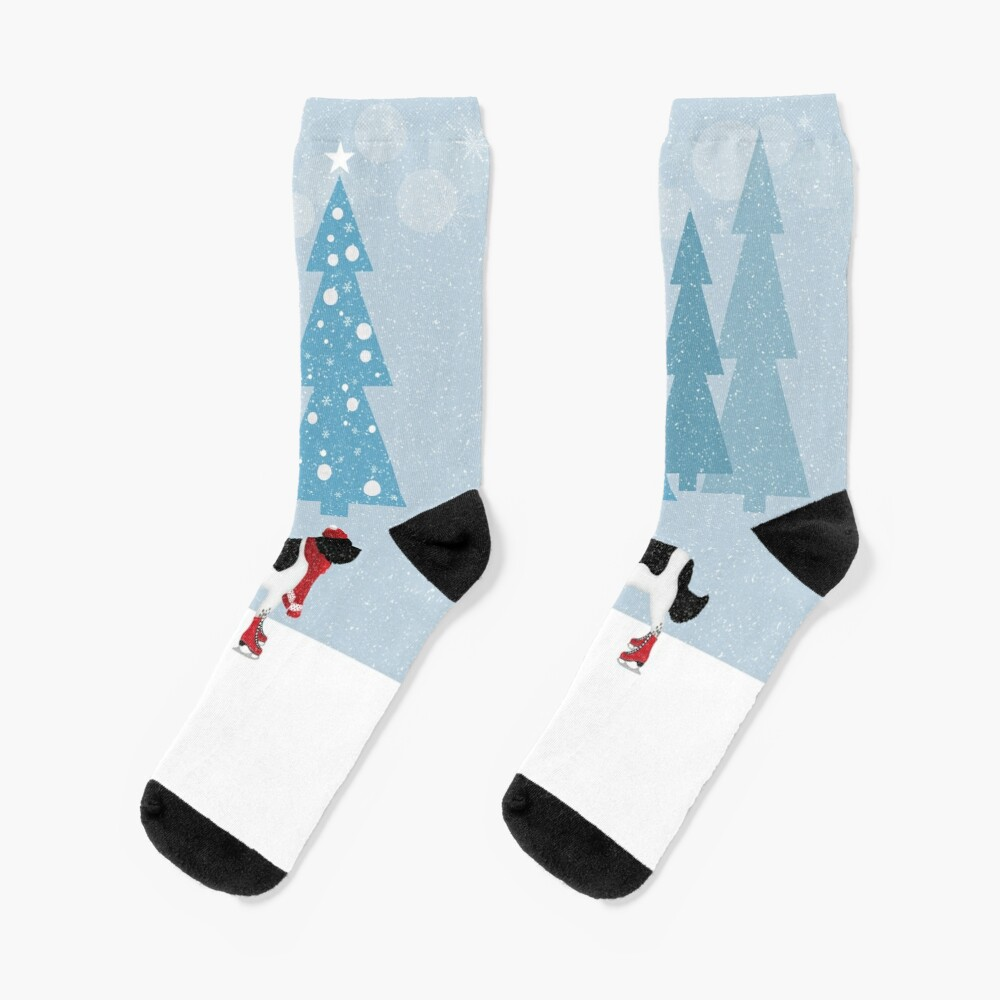 Landseer Newfoundland Winter Scene Socks