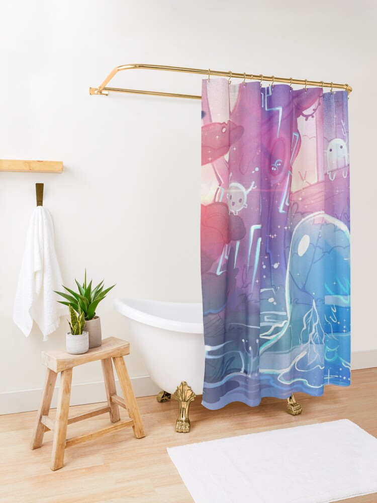 Alternate view of The Silence of Dawn Shower Curtain