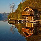 Morning light on an Ullswater boathouse by Shaun Whiteman