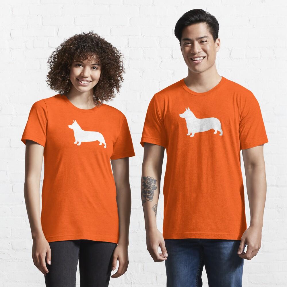 Pembroke Welsh Corgi Silhouette (White) Essential T-Shirt