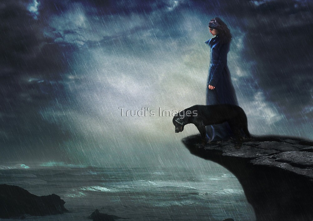 The Black Dog by Trudi's Images