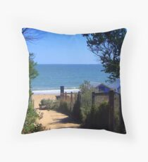 Dendy Beach - Brighton - Victoria - Australia Throw Pillow