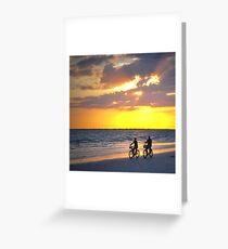 Sunset Ride Greeting Card
