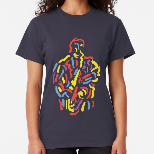 Saxophone Musician Modern  Paint Style Classic T-Shirt