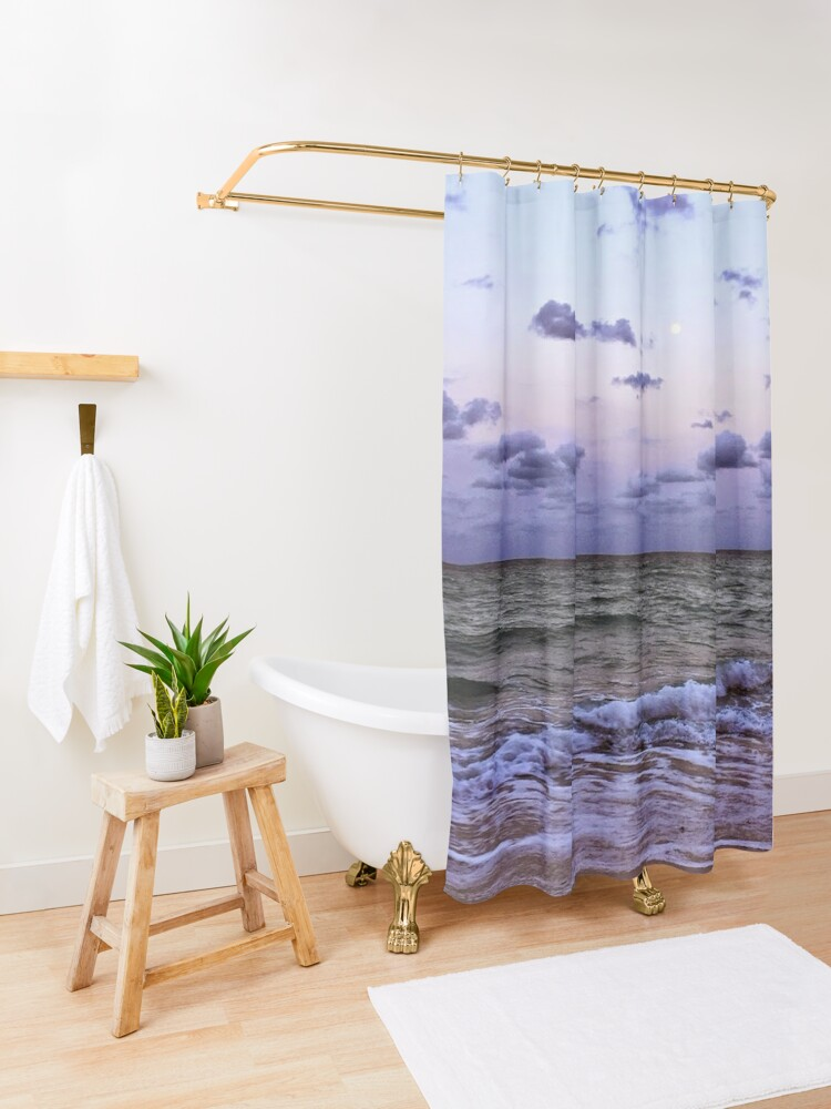 Alternate view of Quiet Moon Shower Curtain