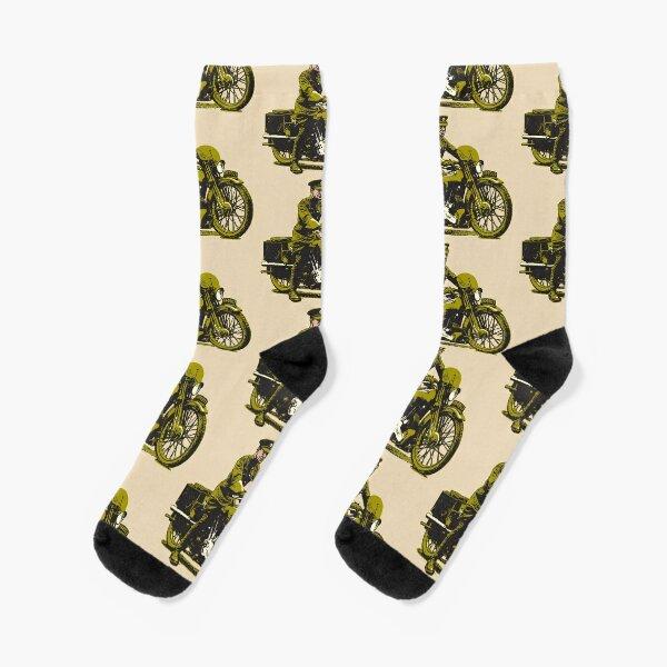 Lawrence of Arabia on his beloved Brough Socks