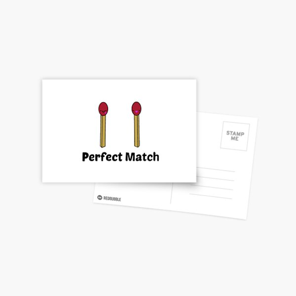 Perfect Match  Postcard