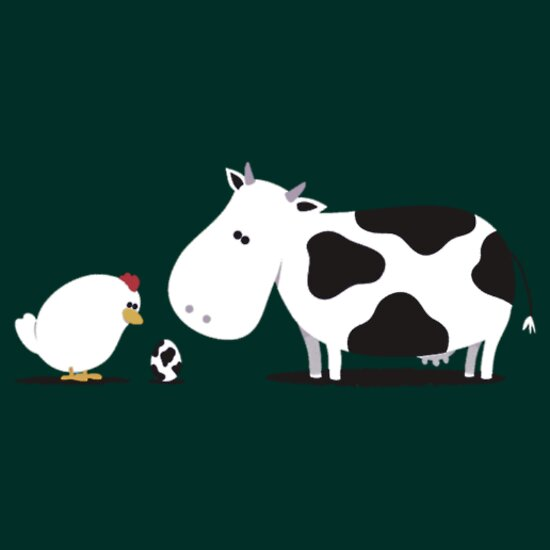 TShirtGifter presents: Chicken and Cow Egg