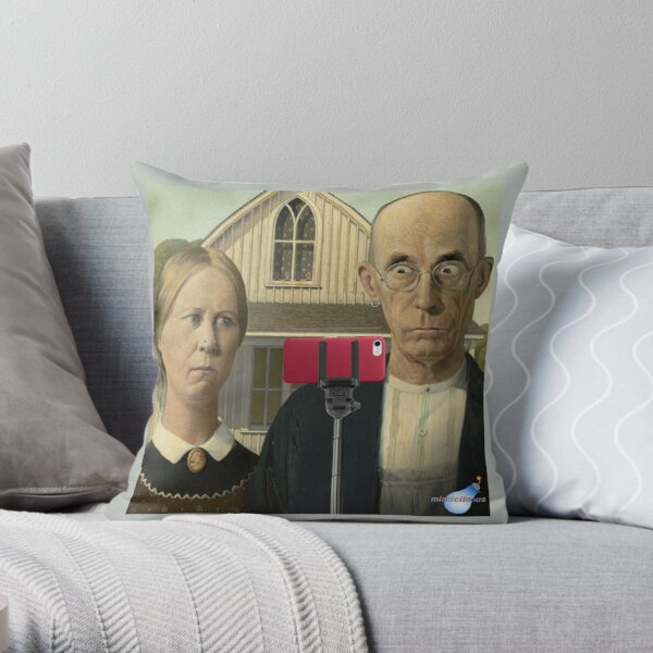American Gothic 2.0 Throw Pillow