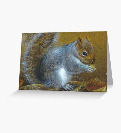 Portrait of a grey squirrel Greeting Card
