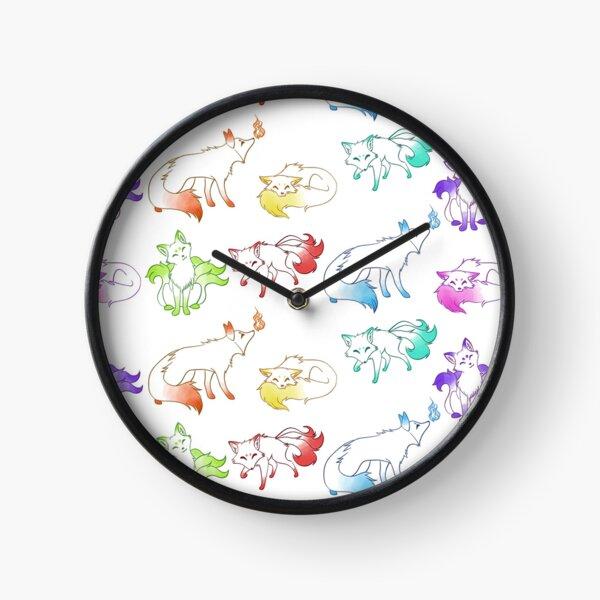 Rainbow Fox Crew Clock