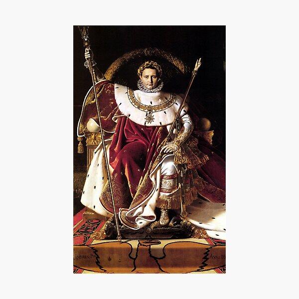 Napoleon On His Imperial Throne Photographic Print