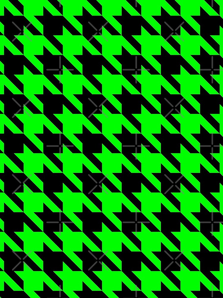 lime green houndstooth  by gossiprag