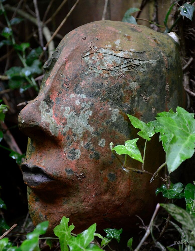 old clay head by malkie