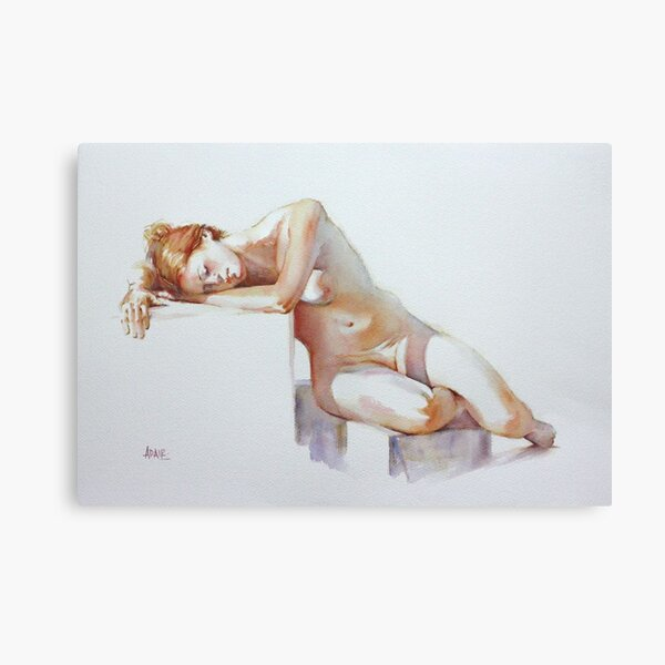 A Resting Figure Canvas Print
