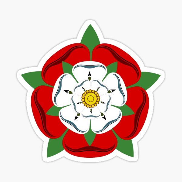 The Tudor Rose / Union Rose Sticker