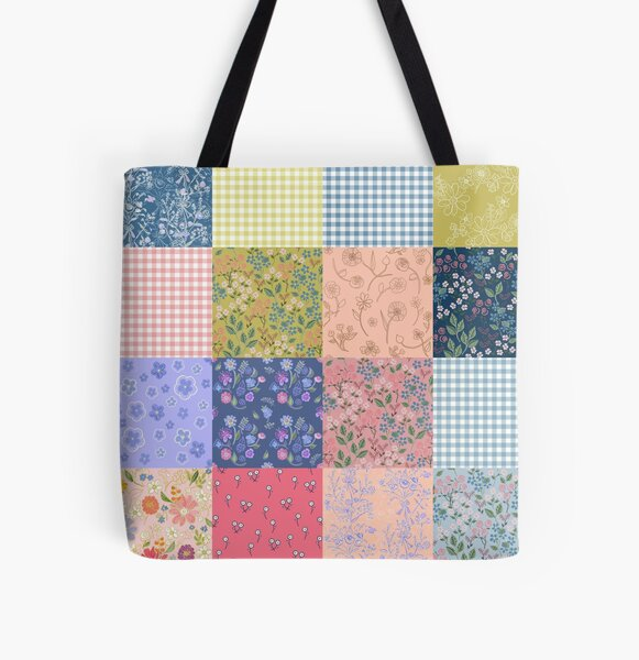 Bohemian patchwork quilt  All Over Print Tote Bag