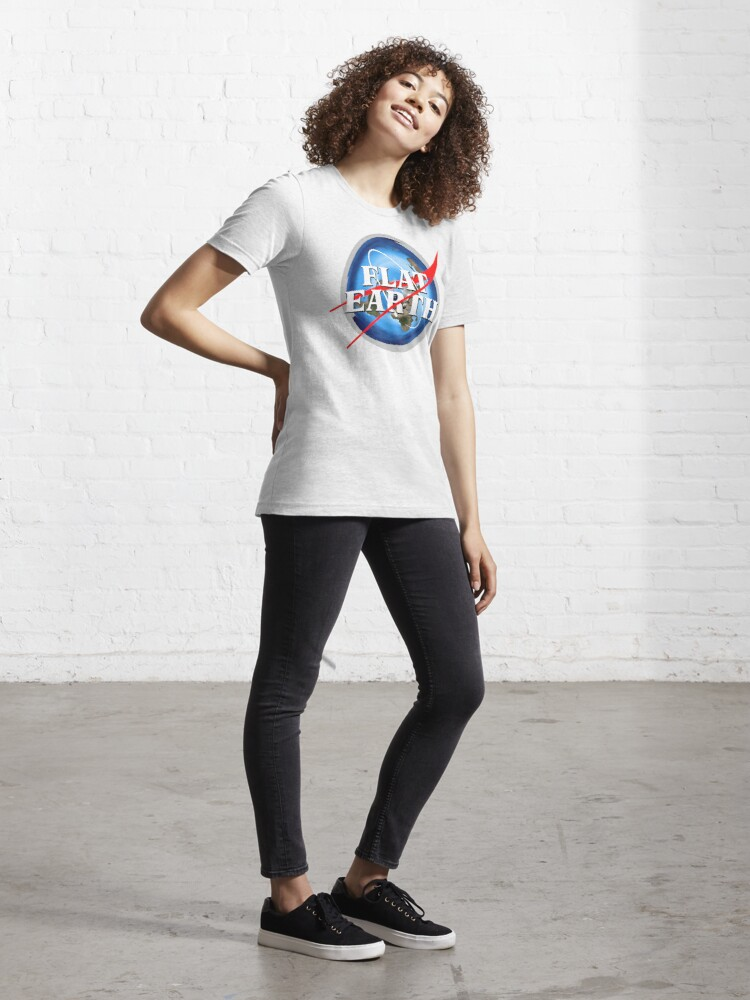 Alternate view of Flat Earth NASA Logo Essential T-Shirt