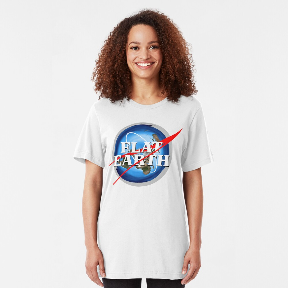 Flat Earth NASA Logo Slim Fit T-Shirt