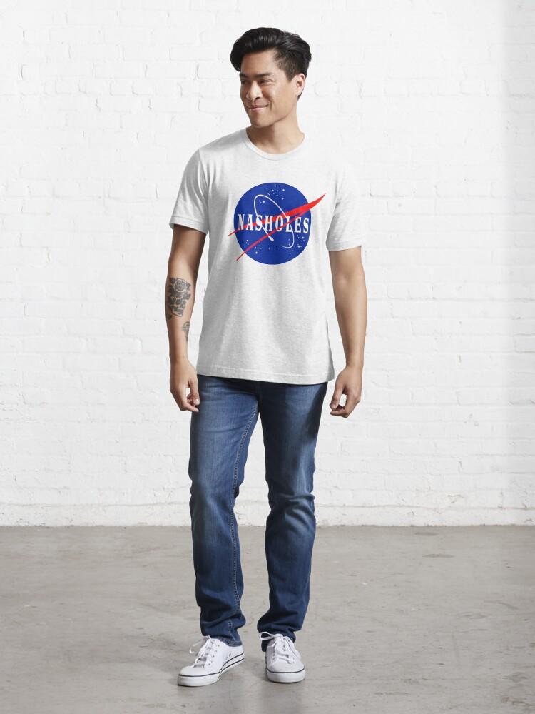 Alternate view of Nasholes NASA Logo Essential T-Shirt