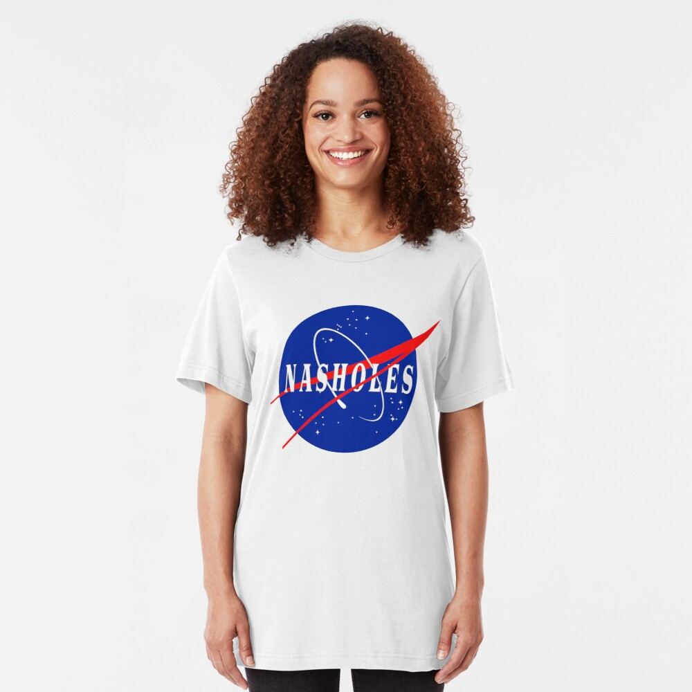 Nasholes NASA Logo Slim Fit T-Shirt