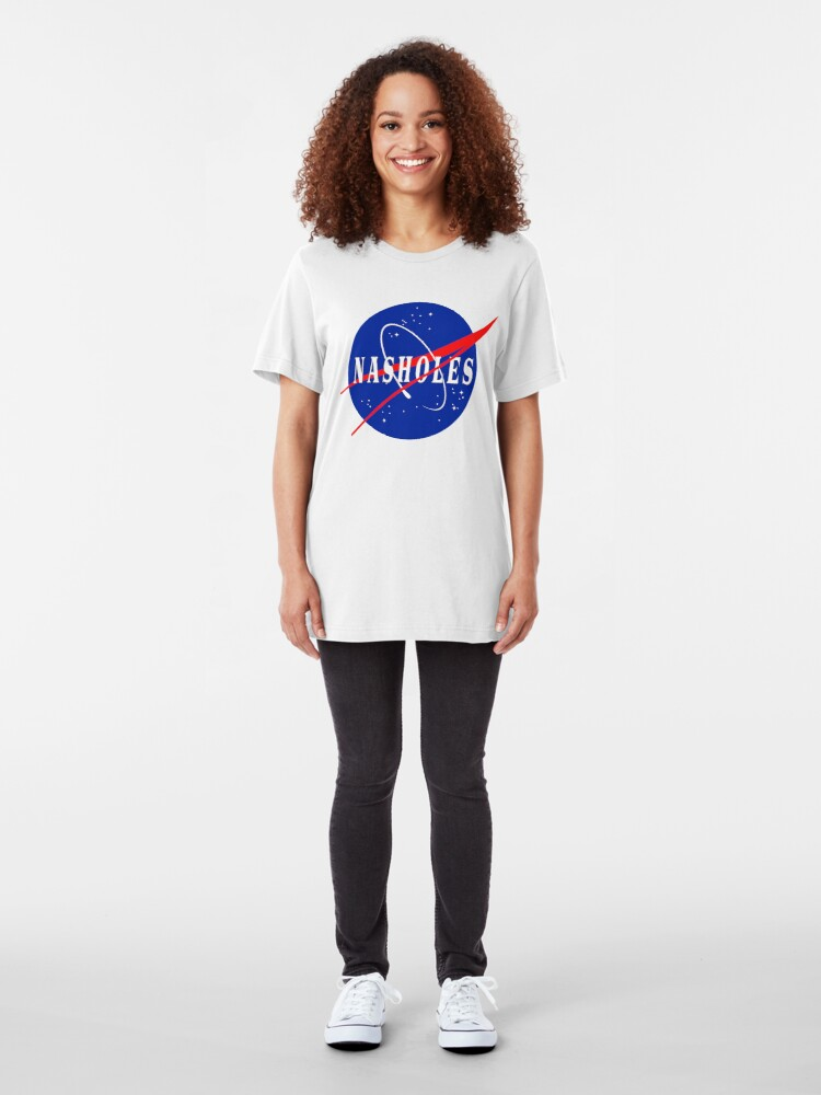Alternate view of Nasholes NASA Logo Slim Fit T-Shirt