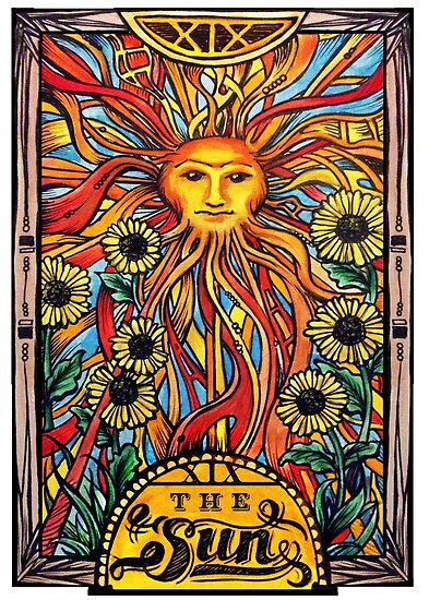 """""""Tarot Card Number 19 """"The Sun"""""""" Posters By"""