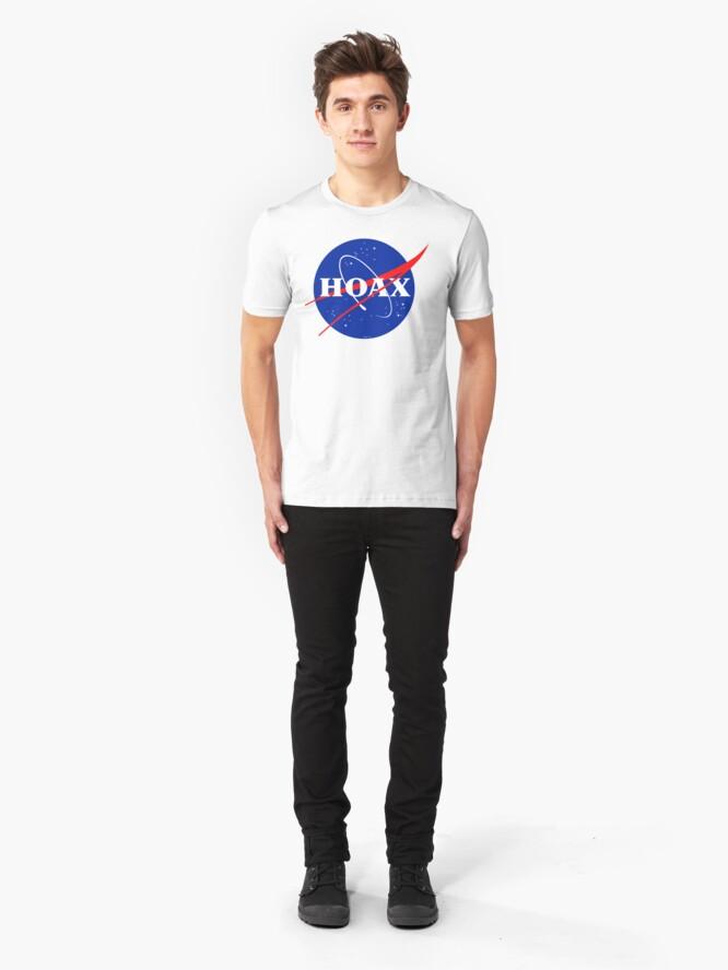 Alternate view of NASA Hoax Logo Slim Fit T-Shirt