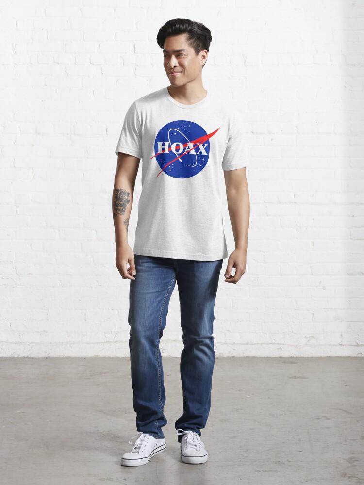 Alternate view of NASA Hoax Logo Essential T-Shirt