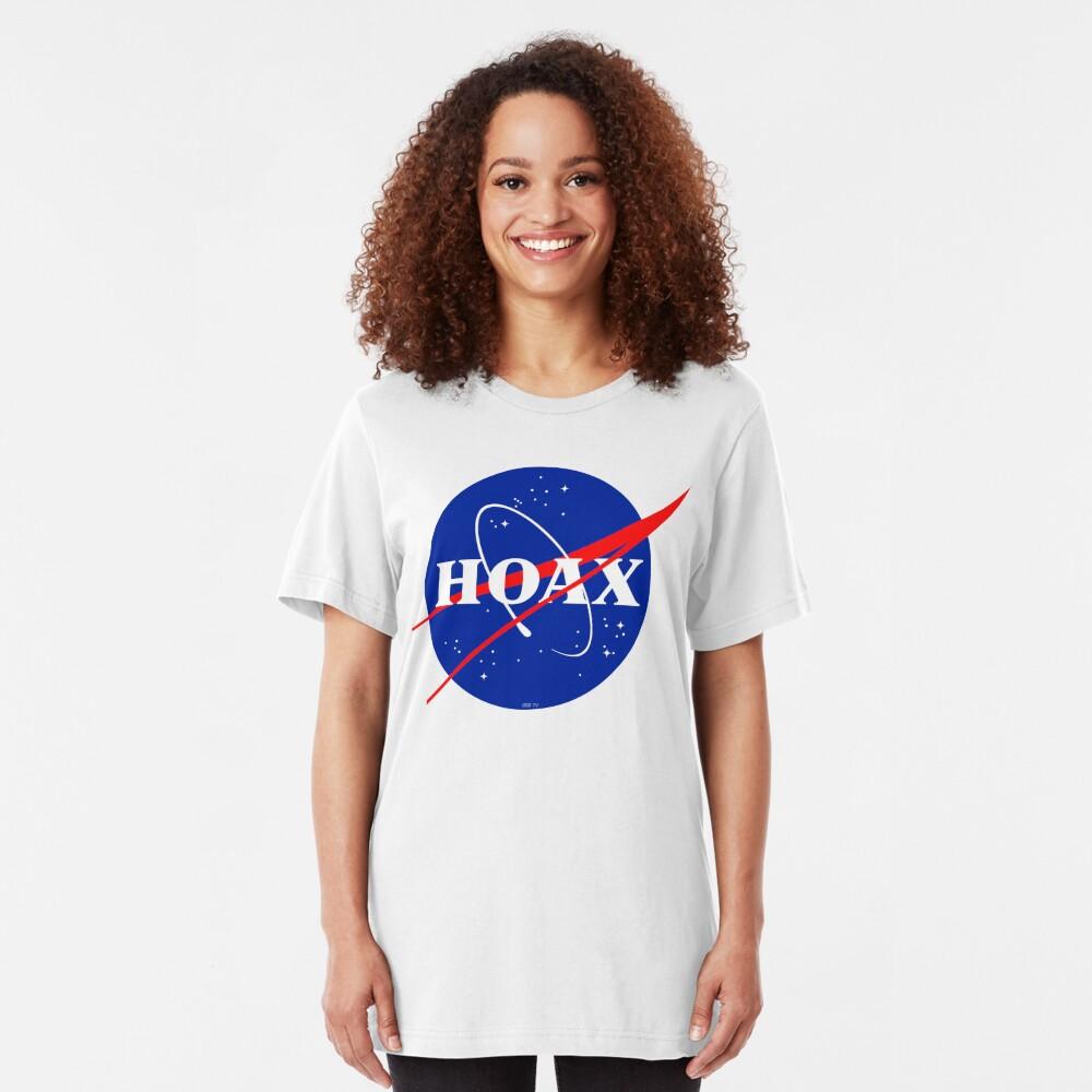 NASA Hoax Logo Slim Fit T-Shirt