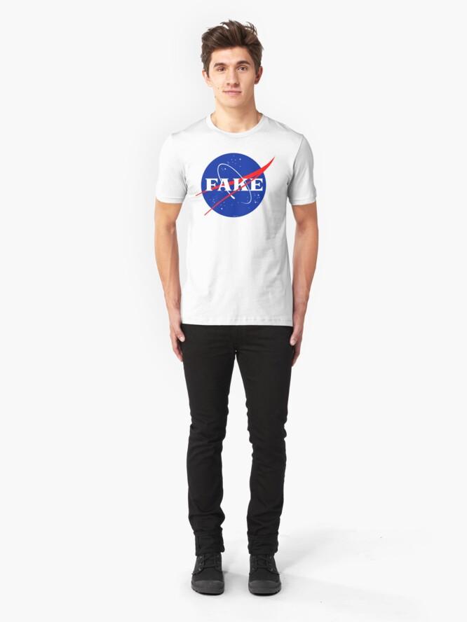 Alternate view of NASA Fake Logo Slim Fit T-Shirt
