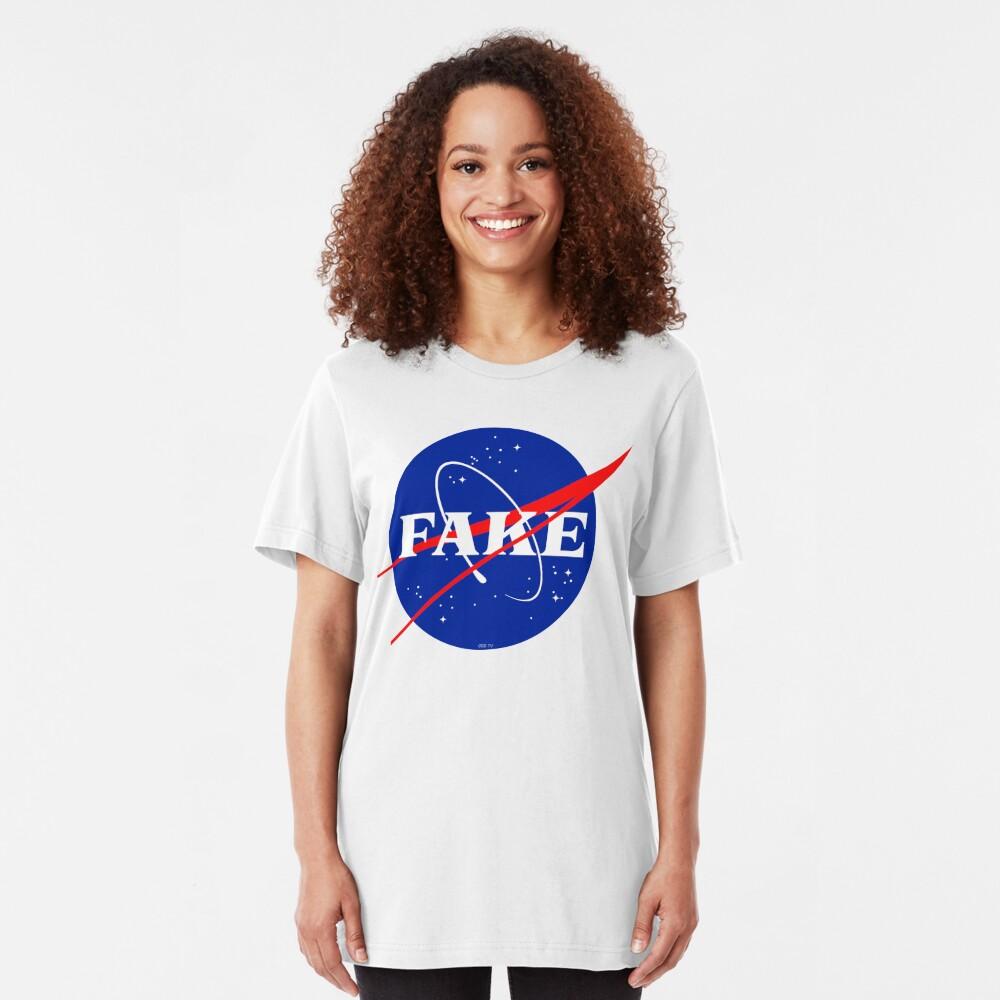 NASA Fake Logo Slim Fit T-Shirt