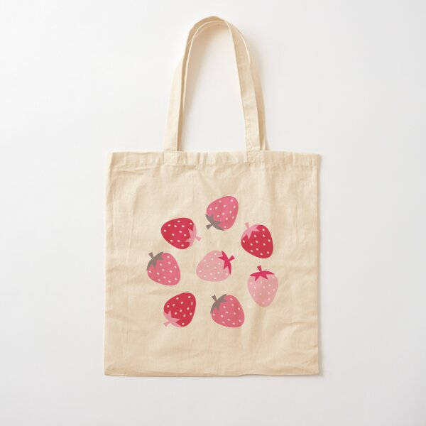 Strawberry Fields Cotton Tote Bag