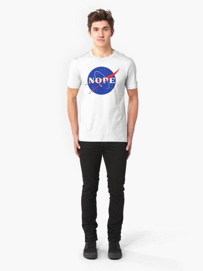 Alternate view of NASA Nope Logo Slim Fit T-Shirt