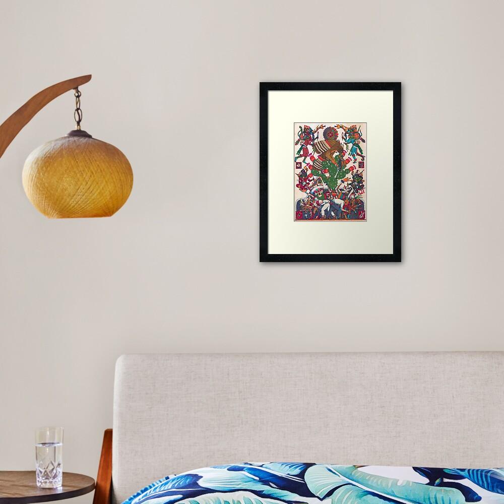 Teocalli Mexicana Framed Art Print